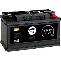 image of Halfords 115AGM Start/Stop AGM 12V Car Battery 4 Year Guarantee