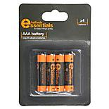 Halfords Essential Batteries AAA x4