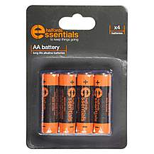 image of Halfords Essential Batteries AA x4