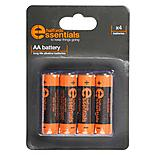 Halfords Essential Batteries AA x4