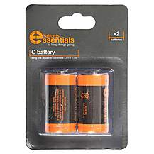 image of Halfords Essential Batteries C x2