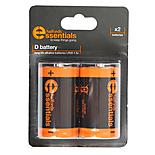 Halfords Essential Batteries D x2