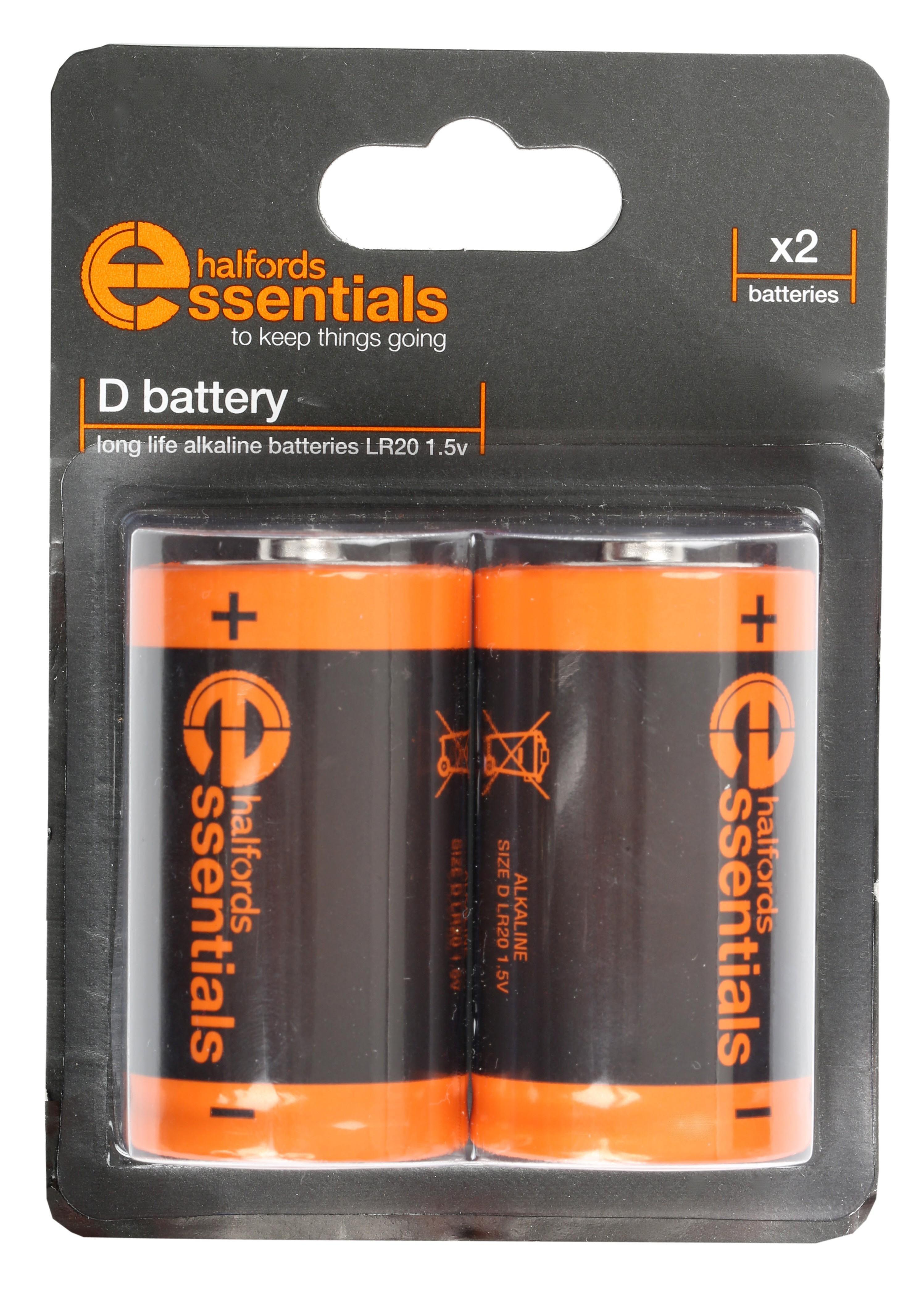Halfords Essential Batteries D x2