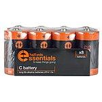 image of Halfords Essential Batteries C x8