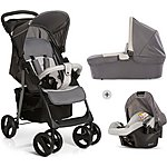 image of Hauck Shopper Trio Travel System - Stone/Grey