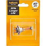 H7 477 Car Headlight Bulb Halfords +25 percent Longer Life Single Pack