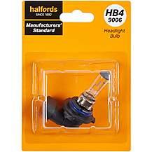 image of HB4 9006 Car Headlight Bulb Manufacturers Standard Halfords Single Pack