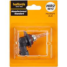 image of HIR2 9012 Car Headlight Bulb Manufacturers Standard Halfords Single Pack