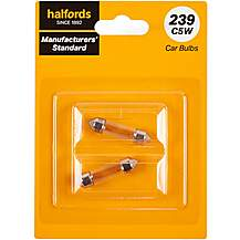 image of 239 C5W Car Bulb Manufacturers Standard Halfords Twin Pack