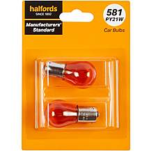 image of 581 PY21W Car Bulb Manufacturers Standard Halfords Twin Pack
