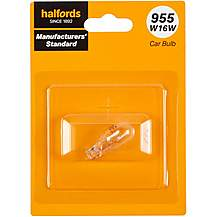 image of 955 W16W Car Bulb Manufacturers Standard Halfords Single Pack