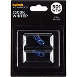 501 W5W 3500K Whiter Car Bulb Halfords Advanced Twin Pack