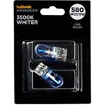 image of 580 W21/5W 3500K Whiter Bulb Halfords Advanced Twin Pack