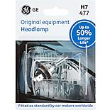 GE H7 477 Car Headlight Bulb 50 percent Longer Life Single Pack