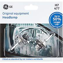 image of GE H7 477 Car Headlight Bulb 50 percent Longer Life Twin Pack