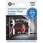 image of GE 239 C5W Car Bulb 50 percent Longer Life Twin Pack
