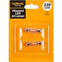 image of 239 LED Car Bulb Halfords Filament Style Twin Pack
