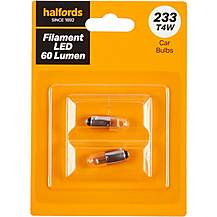 image of 233 LED Car Bulb Halfords Filament Style Twin Pack