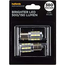 image of 380 Super Bright LED Car Bulb Halfords Advanced Twin Pack