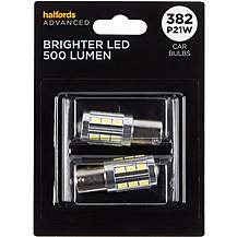 image of 382 Super Bright LED Car Bulb Halfords Advanced Twin Pack