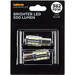 382 Super Bright LED Car Bulb Halfords Advanced Twin Pack