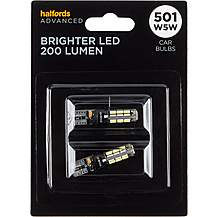 image of 501 Super Bright LED Car Bulb Halfords Advanced Twin Pack