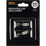 501 Super Bright LED Car Bulb Halfords Advanced Twin Pack