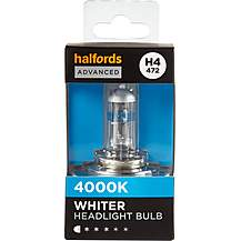image of H4 472 Car Headlight Bulb Halfords Advanced White4000 Single Pack