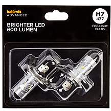 image of H7 477 Super Bright LED Fog Car Bulb Halfords Advanced Twin Pack