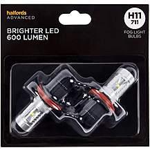 image of H11 711 Super Bright LED Fog Car Bulb Halfords Advanced Twin Pack