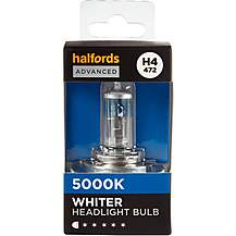 image of H4 472 Car Headlight Bulb Halfords Advanced White5000 Single Pack
