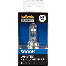 image of H7 477 Car Headlight Bulb Halfords Advanced White5000 Single Pack