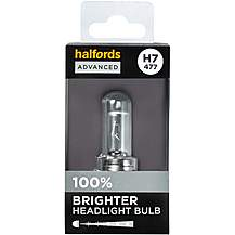 image of H7 477 Car Headlight Bulb Halfords Advanced Up To +100 percent Brighter Single Pack