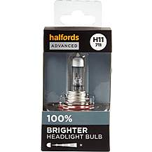 image of H11 711 Car Headlight Bulb Halfords Advanced Up To +100 percent Brighter Single Pack