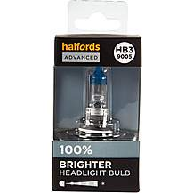 image of HB3 9005 Car Headlight Bulb Halfords Advanced +100 percent Brighter Single Pack
