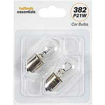 image of 382 P21W Bulbs Halfords Essentials Twin Pack
