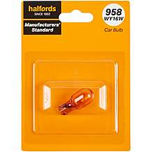 image of 958 WY16W Car Bulb Manufacturers Standard Halfords Single Pack