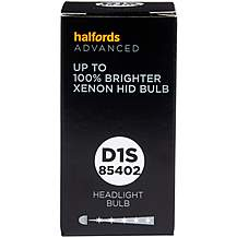 image of D1S 85402 Xenon HID Car Headlight Bulb Halfords Advanced +100 percent Brighter Single Pack