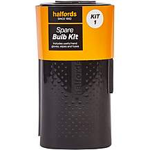 image of Halfords Spare Car Bulb Kit 1 with H4 472 Headlight and Small Bulbs