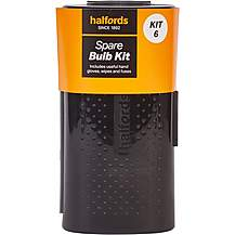 image of Halfords Spare Car Bulb Kit 6 with H4 472 Headlight and Small Bulbs