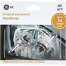 image of GE H7 477 Car Headlight Bulb 3x Longer Life Twin Pack