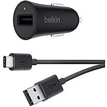 image of Belkin USBC Car Chg Blk