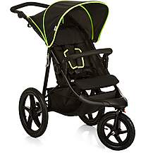 image of Hauck Runner Stroller - Black/Neon Yellow
