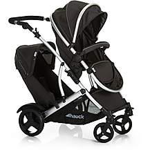 image of Hauck Duett 2 Tandem Pushchair - Black