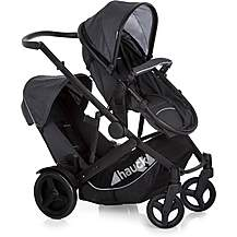 image of Hauck Duett 3 Tandem Pushchair - Melange Black