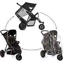 image of Hauck Freerider Double Pushchair - Black