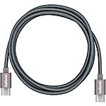 image of Halfords Cable C-C 1.2M Charcoal