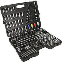 image of Halfords Advanced 200 Pc Socket and Ratchet Spanner Set
