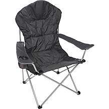image of Halfords Comfort Folding Chair - Black