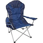 image of Halfords Premium Folding Chair - Blue